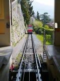 El funicular de Bérgamo en Italia Imagen de archivo libre de regalías