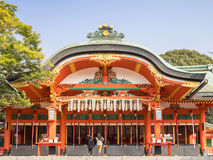 El Fushimi Inari Taishi Shrine Imágenes de archivo libres de regalías