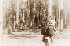 El fusilero solitario foto de archivo