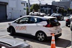 El futuro de la tecnología del coche, driverless, en la etapa de la prueba Fotografía de archivo libre de regalías