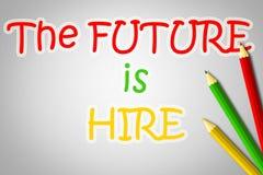 El futuro está aquí concepto ilustración del vector