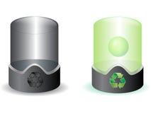 El futuro recicla el compartimiento Imagenes de archivo