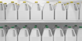 El galón de la leche encendido deja de lado Fotos de archivo