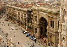 El Galleria Vittorio Manuel II Imágenes de archivo libres de regalías