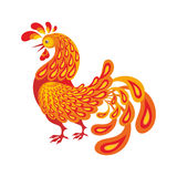 El gallo ardiente Imagen de archivo libre de regalías