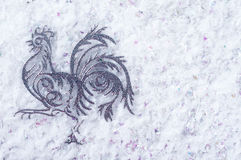 El gallo es un símbolo de 2017 Imágenes de archivo libres de regalías