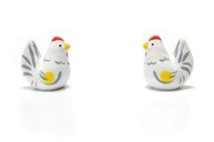 El gallo japonés del Año Nuevo aisló 2 Imagenes de archivo
