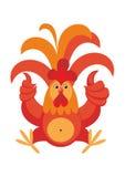 El gallo rojo Fotografía de archivo libre de regalías