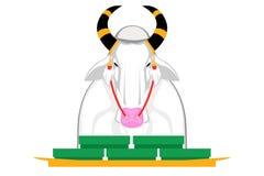 El ganado de la vaca en la ceremonia real es aventurado Elija comer El día de arado real de la ceremonia stock de ilustración