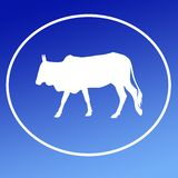 El ganado nacional acobarda a Logo Background Banner ilustración del vector