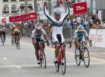 El ganador del ciclo Malasia 2011 de OCBC foto de archivo libre de regalías