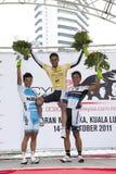 El ganador del ciclo Malasia 2011 de OCBC fotografía de archivo libre de regalías