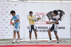 El ganador del ciclo Malasia 2011 de OCBC fotos de archivo