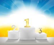 El ganador del mejor es el mejor podio 3d rinde Foto de archivo libre de regalías