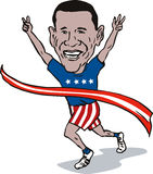 El ganar de Barack Obama stock de ilustración