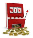 El ganar en la máquina tragaperras Fotografía de archivo