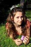 El gandulear adolescente dulce Foto de archivo libre de regalías