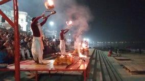 El Ganges Arti Imagenes de archivo