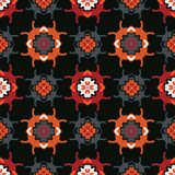 El garabato abstracto de la gente de Geo forma negro y rojo Imágenes de archivo libres de regalías