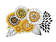 El garabato florece el ramo ilustración del vector