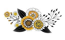El garabato florece el ramo stock de ilustración