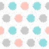 El garabato forma el fondo inconsútil Elementos grises, azules y rosados Fotos de archivo libres de regalías
