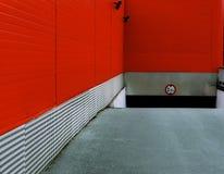 El garaje rojo Imagenes de archivo