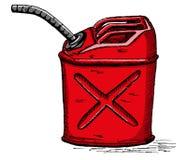El gas del vector puede Imagen de archivo libre de regalías