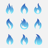 El gas flamea iconos del vector Imágenes de archivo libres de regalías