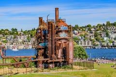 El gas trabaja el parque Seattle imagen de archivo
