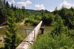 El gaseoducto principal de una alta presión. Imagen de archivo