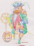 El gato es pirata ilustración del vector