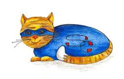 El gato estupendo Imagen de archivo libre de regalías
