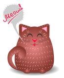El gato marrón divertido dice maullido Fotografía de archivo libre de regalías