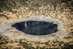 EL-gazon de lac salt en ancien cratère de volcan, Ethiopie, Afrique Photo libre de droits