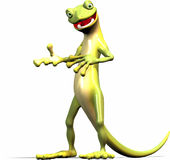 El Gecko explica stock de ilustración