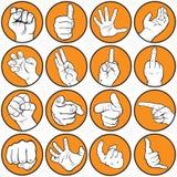 El gesticular de la mano stock de ilustración