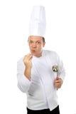 El gesticular del cocinero Foto de archivo