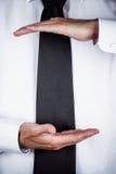 El gesticular del hombre de negocios Fotografía de archivo