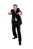 El gesticular del hombre de negocios Fotos de archivo libres de regalías