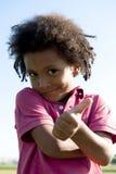 El gesticular del niño pequeño Imagen de archivo libre de regalías
