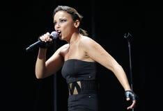 El gesticular latino de Chayanne del cantante de Puerto Rico vivo en etapa Fotografía de archivo