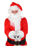 El gesticular santo de Papá Noel Fotografía de archivo