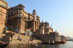 El Ghats santo de Varanasi Imágenes de archivo libres de regalías