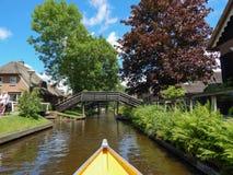 El Giethorrn divino en Países Bajos Imagen de archivo libre de regalías