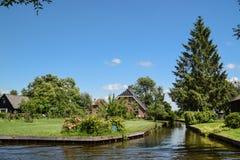 El Giethorrn divino en Países Bajos Foto de archivo libre de regalías