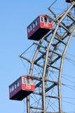 El gigante de Viena balsea la rueda (Riesenrad) en Prater Imagenes de archivo