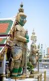 El gigante verde de Wat Phra Kaew Foto de archivo libre de regalías