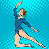 El gimnasta hermoso se divierte juegos del verano Fotografía de archivo