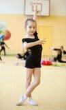 El gimnasta joven fotos de archivo